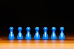 Equipo, negocio, organización, azul y negro del concepto Fotografía de archivo
