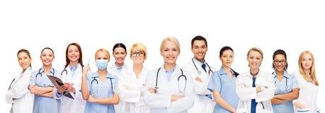 Equipo o grupo de doctores y de enfermeras Fotos de archivo libres de regalías