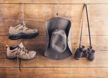 Equipo para caminar Foto de archivo libre de regalías