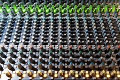 Equipo para el control del mezclador de sonidos, equipo de sonido de los botones foto de archivo