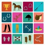 Equipo para el montar a caballo Imagen de archivo libre de regalías