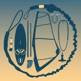 Equipo para el windsurf Foto de archivo libre de regalías