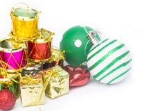 Equipo para la celebración de la Feliz Año Nuevo del festival de la Navidad Foto de archivo