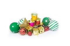 Equipo para la celebración de la Feliz Año Nuevo del festival de la Navidad Imagen de archivo libre de regalías