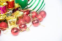 Equipo para la celebración de la Feliz Año Nuevo del festival de la Navidad Imagenes de archivo