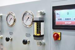Equipo para la diagnosis con los indicadores de presión Imagen de archivo libre de regalías