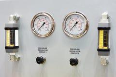 Equipo para la diagnosis con los indicadores de presión Fotografía de archivo