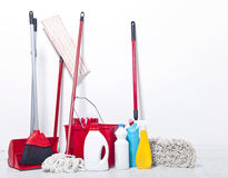 Equipo para la limpieza Foto de archivo libre de regalías