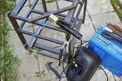 Equipo para la soldadura eléctrica foto de archivo libre de regalías