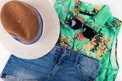 equipo para mujer del verano Fotos de archivo libres de regalías
