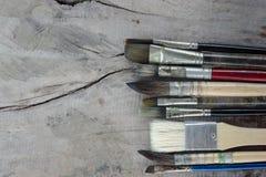 Equipo para pintar y el equipo del aerógrafo - imagen común Foto de archivo