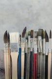Equipo para pintar y el equipo del aerógrafo - imagen común Imagen de archivo libre de regalías