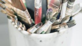 Equipo para pintar y el equipo del aerógrafo - imagen común Imágenes de archivo libres de regalías