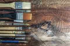 Equipo para pintar y el equipo del aerógrafo - imagen común Foto de archivo libre de regalías