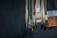 Equipo para pintar y el equipo del aerógrafo - imagen común Fotografía de archivo libre de regalías