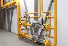 Equipo para una reducción de la presión del gas Imágenes de archivo libres de regalías