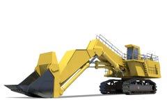 Equipo pesado. Excavador con el compartimiento. Imagenes de archivo