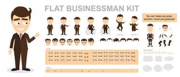 Equipo plano del hombre de negocios ilustración del vector