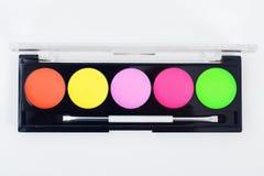 Equipo profesional de la colección del maquillaje Foto de archivo libre de regalías