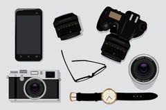 Equipo profesional de la fotografía Imagen de archivo libre de regalías