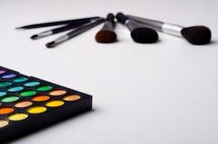 Equipo profesional del maquillaje Fotografía de archivo libre de regalías