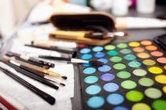 Equipo profesional del maquillaje Imágenes de archivo libres de regalías