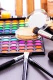 Equipo profesional del maquillaje Foto de archivo libre de regalías