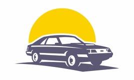 Equipo retro de la máquina del logotipo del coche fotografía de archivo