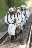Equipo tóxico de la emergencia de las sustancias químicas y de los ácidos Imagenes de archivo