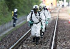 Equipo tóxico de la emergencia de las sustancias químicas y de los ácidos Imagen de archivo libre de regalías