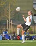 Equipo universitario 3 de las muchachas del fútbol Foto de archivo