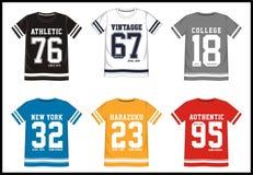 Equipo universitario 017 de la camiseta Fotografía de archivo libre de regalías