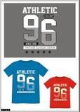 Equipo universitario 020 de la camiseta Imagen de archivo