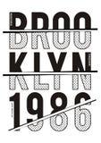 Equipo universitario 018 de la tipografía del vector Imagen de archivo
