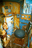 Interior de la locomotora vieja imágenes de archivo libres de regalías