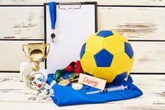 Equipo y drogas de deporte foto de archivo libre de regalías