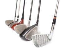 Equipos de golf. Imagen de archivo libre de regalías