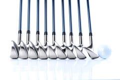 Equipos de golf Imagen de archivo libre de regalías