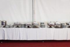 Equipos de la cocina del metal Fotografía de archivo libre de regalías