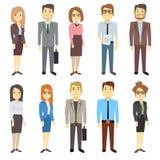 Equipos del negocio de los caracteres de la gente del vector del empleado de las empresarias de los hombres de negocios diversos ilustración del vector