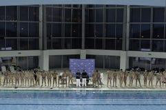 Equipos del water polo Imagen de archivo libre de regalías