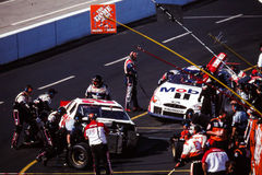 Equipos en boxes de NASCAR Fotografía de archivo libre de regalías