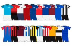 Equipos ingleses del fútbol stock de ilustración
