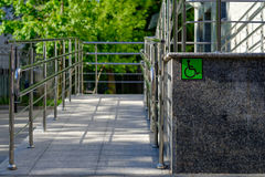 Equipped with outdoor access for the disabled. Royalty Free Stock Photos