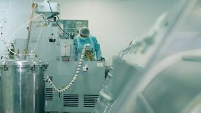 Equipped unit of a pharmacology factory under control of a specialist