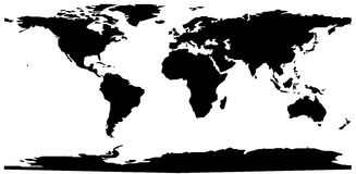 equirectangular κόσμος χαρτών δικτύου Στοκ Φωτογραφίες