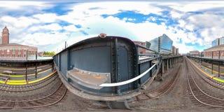 equirectangular сферически фото 360 городского Сиэтл Вашингтона стоковое фото rf