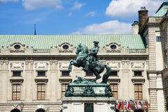Equistarian-Statue auf Heldenplatz, Wien Stockbilder