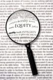 Equità Immagine Stock Libera da Diritti