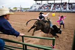 Equitação de Bull Fotografia de Stock